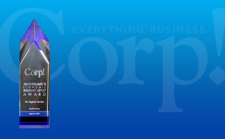 SS Digital Media Wins CORP! Magazine Economic Bright Spot Award