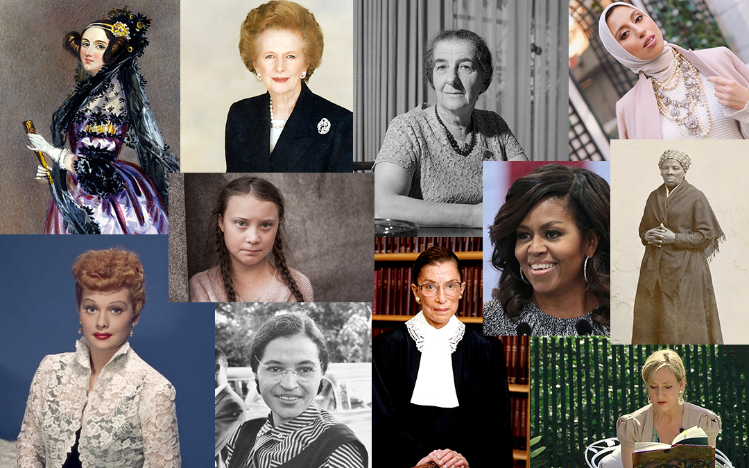 Collage of admirable women