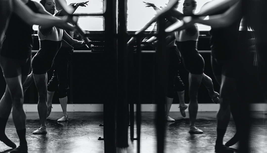 ballerinas practicing together