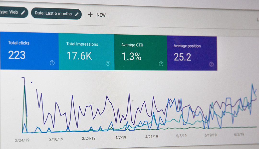 Google ads campaign statistics graph