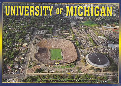 University of Michigan big house aerial photo