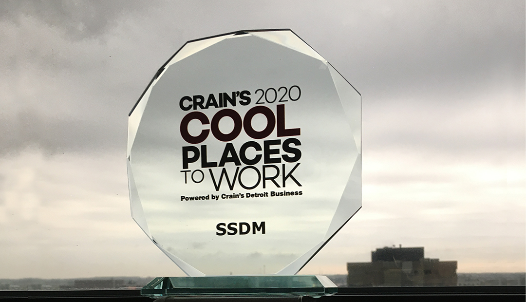 Crain's coolest places to work award for SSDM