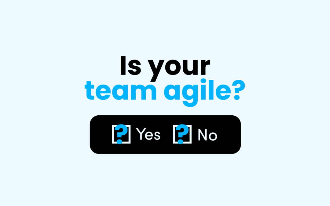 Agility is a by-product of good team dynamics